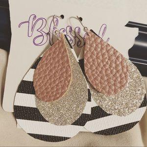 Faux leather earrings